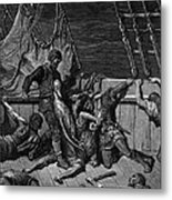 The Sailors Curse The Mariner Forced To Wear The Dead Albatross Around His Neck Metal Print