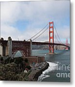 The San Francisco Golden Gate Bridge - 5d18909 Metal Print by Wingsdomain Art and Photography
