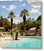 The Sandpiper Pool Palm Desert Metal Print