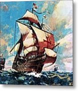 The Santa Maria Metal Print by James Edwin McConnell