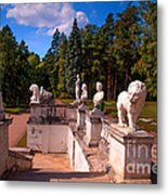 The Satutues Of Archangelskoe Palace. Russia Metal Print
