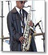 The Saxophone Player Metal Print