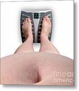 The Scale Says Series Fat Ass Metal Print