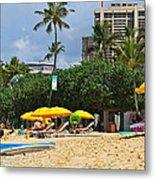 The Scene At Waikiki Beach Metal Print