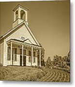 The Schoolhouse Hdr Metal Print
