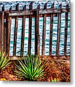 The Sea Fence Siesta Key Fla. Metal Print