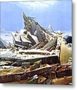 The Sea Of Ice Polar Sea Metal Print