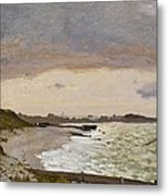 The Seashore At Sainte Adresse Metal Print