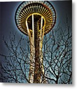 The Seattle Space Needle Iv Metal Print