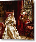 The Serenade Metal Print by Joseph Frederick Charles Soulacroix