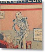 The Servant Of The Future -- A Robotic Metal Print