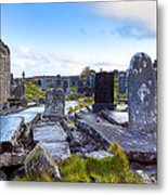 The Seven Churches Ruins On Inis Mor Metal Print