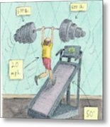 The Seven Second Workout Metal Print