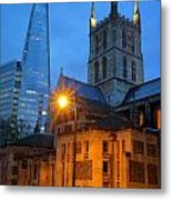 The Shard And Southwark Cathedral Metal Print