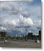 The Shard And The Thames At Southwark Metal Print