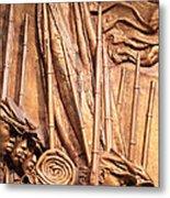 Saint Gaudens -- The Shaw Memorial's Left Side Metal Print