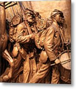 Saint Gaudens -- The Shaw Memorial's Right Side Metal Print