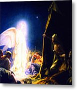 The Shepherds And The Angel Metal Print