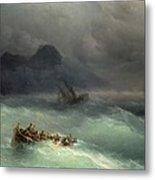 The Shipwreck Metal Print by Ivan Konstantinovich Aivazovsky