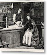 The Shopkeeper, Percy Macquoid, 1852-1925 Metal Print