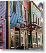 The Shops In Crested Butte Metal Print