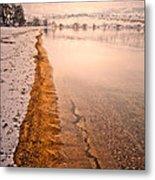 The Shore In Winter Metal Print