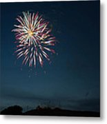 West Virginia Day Fireworks Show Begins Metal Print by Howard Tenke