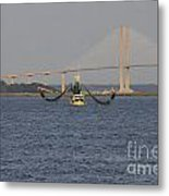 The Shrimp Boat Predator  Art Metal Print