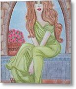 The Sibyl - Grecian Goddess Metal Print