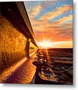 The Side Of The Rail Metal Print