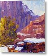 The Side Of The Road At Zion Metal Print