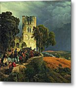 The Siege. Defense Of A Church Courtyard During The Thirty Years' War Metal Print