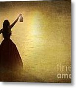 The Lady With The Lamp Metal Print