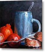 The Silver Cup Metal Print
