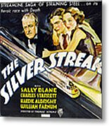 The Silver Streak, Us Poster Art Metal Print