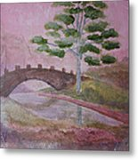 The Silver Tree Metal Print
