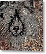 The Silver Wolf 2 Metal Print
