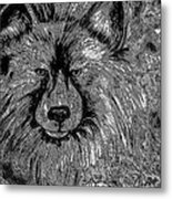 The Silver Wolf Metal Print