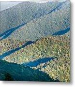 The Simple Layers Of The Smokies At Sunset - Smoky Mountain Nat. Metal Print
