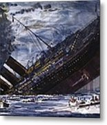 The Sinking Of The Titanic Metal Print