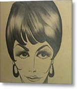 The Sixties And Fashion Hair Metal Print
