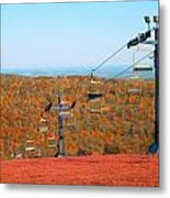 The Skiing Fields In Autumn Metal Print