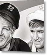The Skipper And Gilligan Metal Print