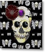 The Skull Is In Love With Cupidos Metal Print