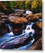 The Skull Waterfall Metal Print