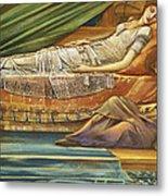 The Sleeping Princess Metal Print by Sir Edward Burne-Jones