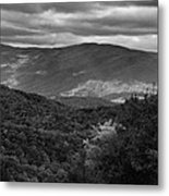 The Smokies In Black And White Metal Print