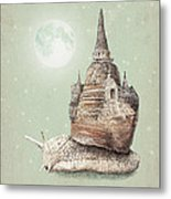 The Snail's Dream Metal Print