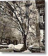 The Snow Tree - Sepia Antique Look Metal Print