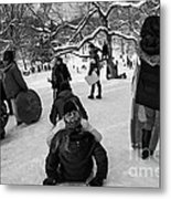 The Snowboarders Metal Print
